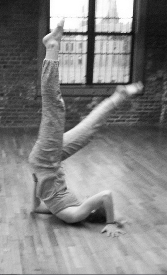 Tori in Modern Technique and Improv class.