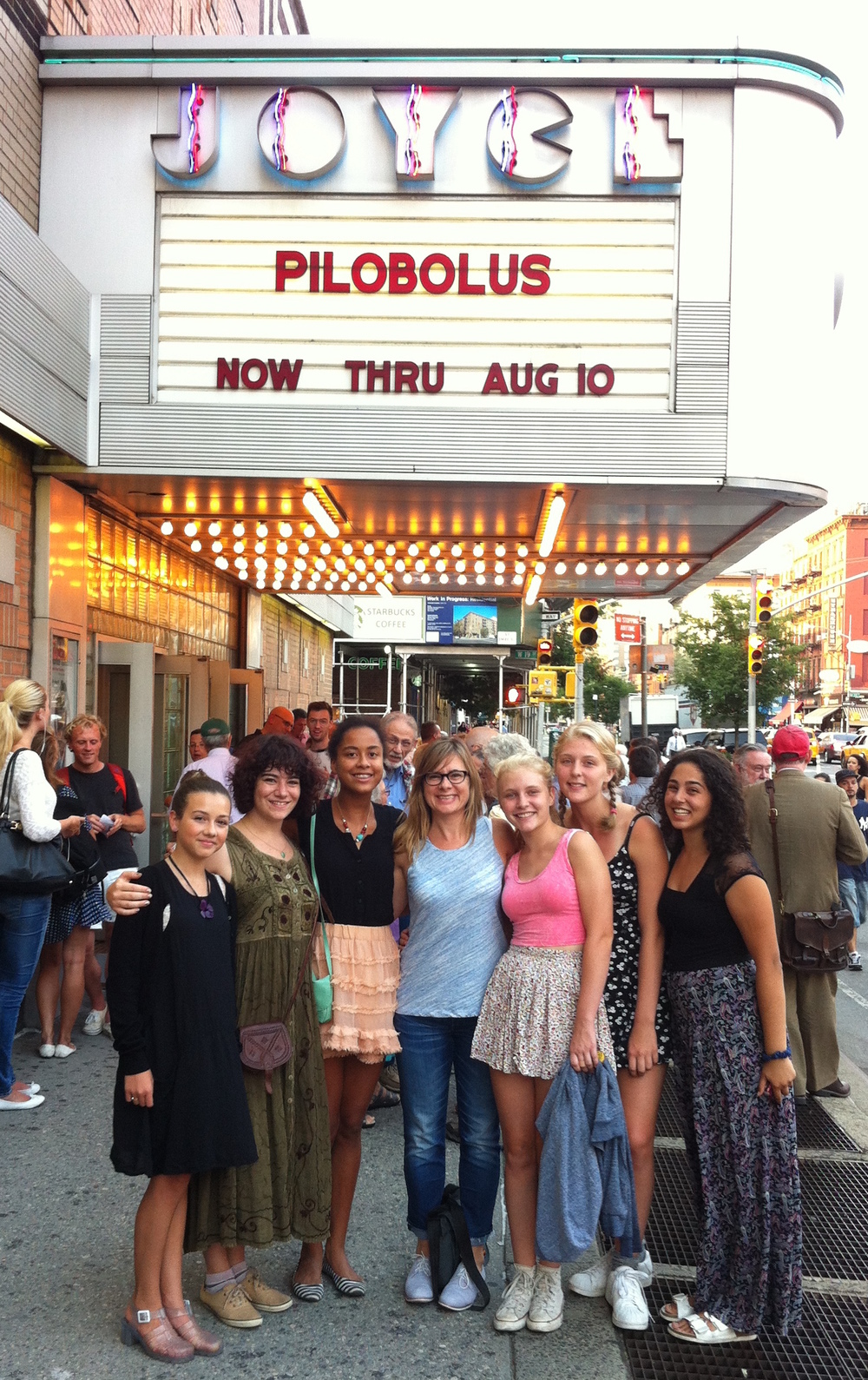 Tori with fellow e.g.dance students at one of our performance field trips - this one to see Pilobolus perform at the Joyce.