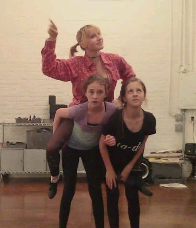 "Ava rehearsing ""Who's Got the Pain?"" from  Damn Yankees  in e.g.dance Jazz Class."