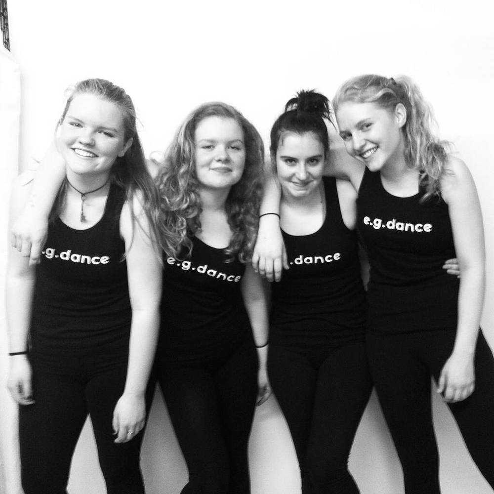 Ava with fellow e.g.dance students