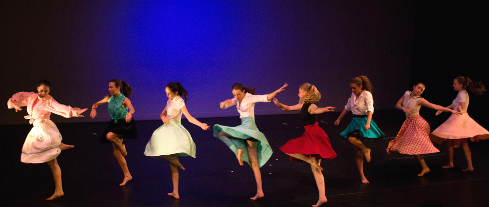 Lila (4th from Left) performing in e.g.dance's Annual Performance in May 2015.