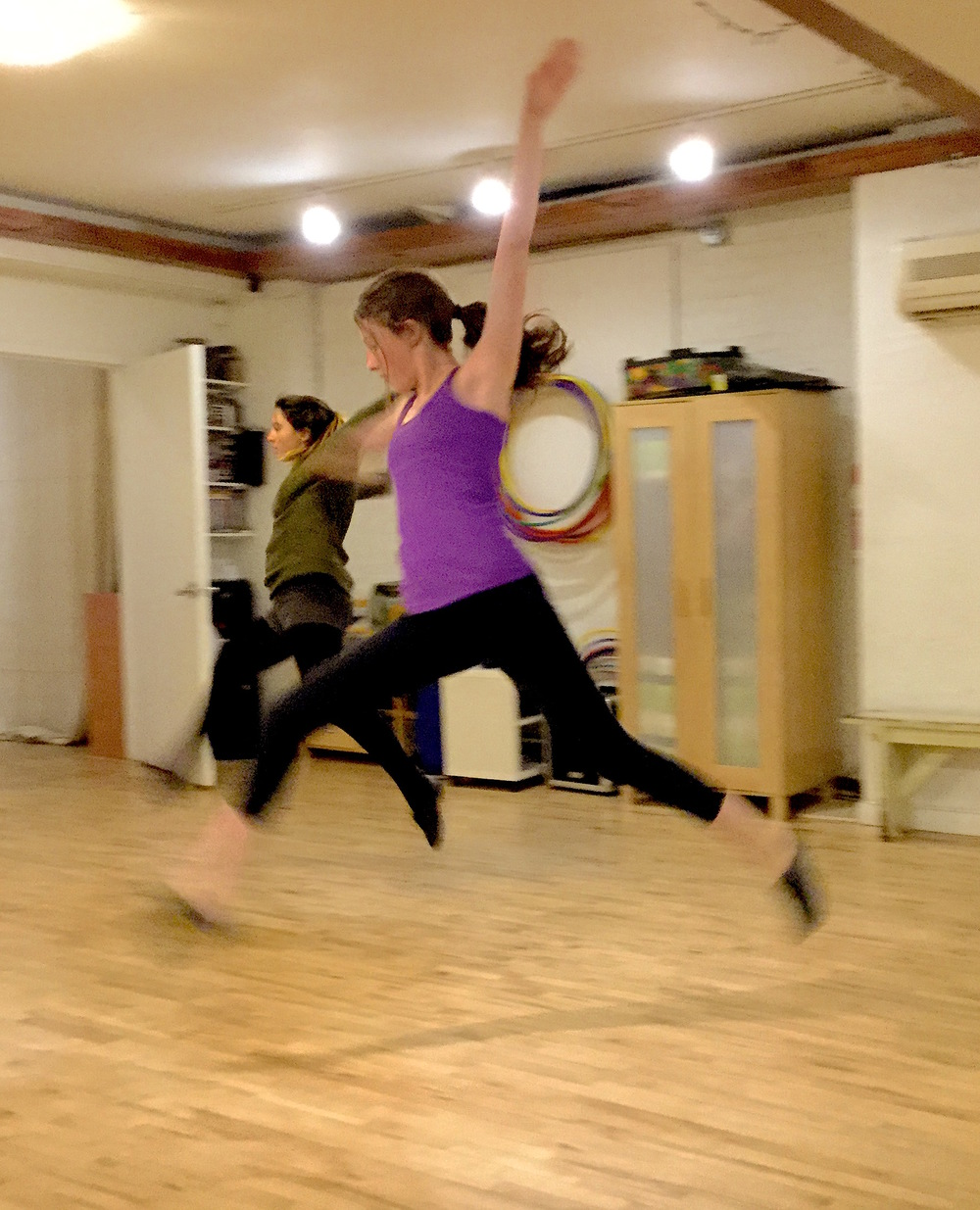 Lila in jazz class in February 2016.