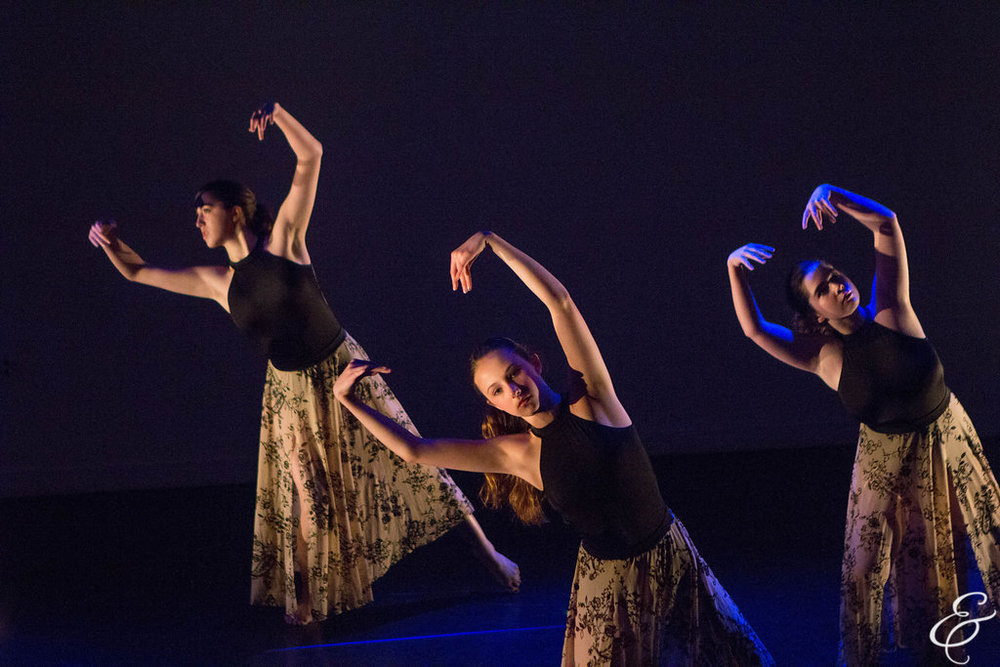 Aggie (far right) performing in Erin's choreography in May 2016 (photo by Ebbe Sweet)
