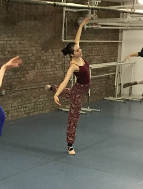 Angela in ballet class in 2017