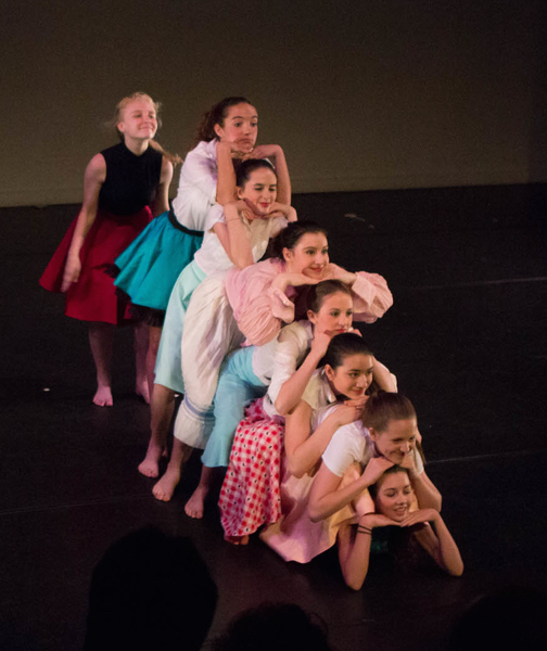 Angela in 2015 e.g.dance student performance (3rd from top)
