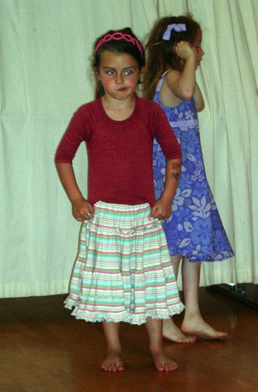 Lucia in her first year of dance with Erin at Spoke the Hub Dancing. 2007