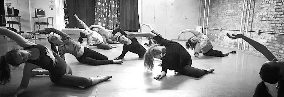 Claire (blonde ponytail dangling) in Erin's dance class in 2016.