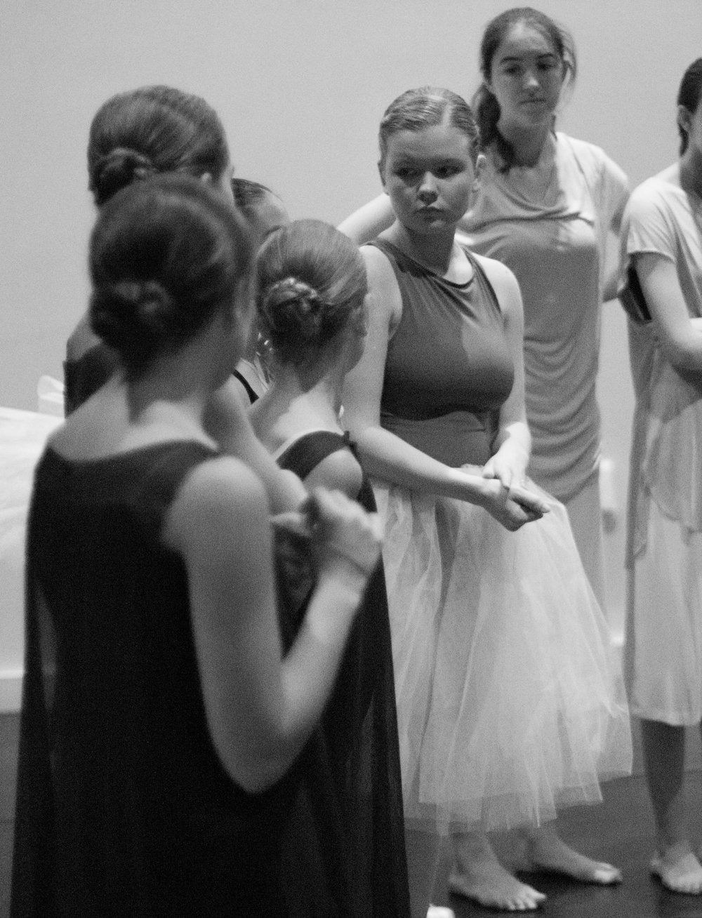 Claire getting notes after a run-through of performance in May 2017. Photo by Ebbe Sweet Photography.