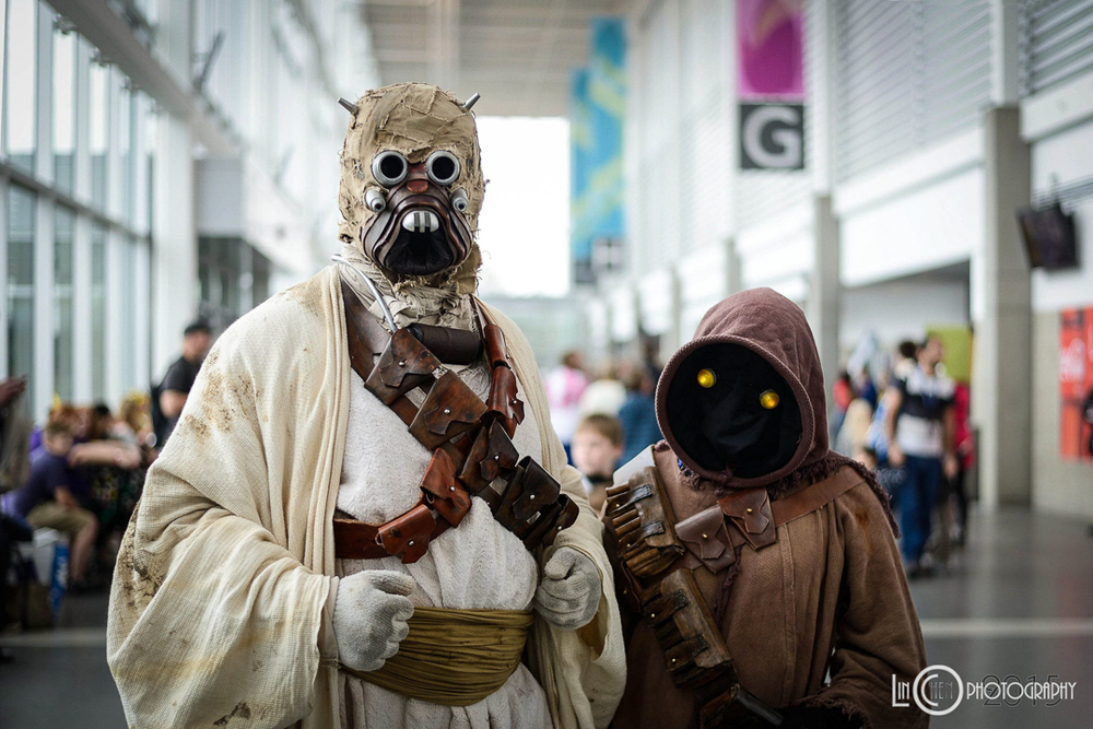 Tusken raider and his pet Jawa