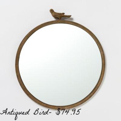 Antiqued Bird Mirror