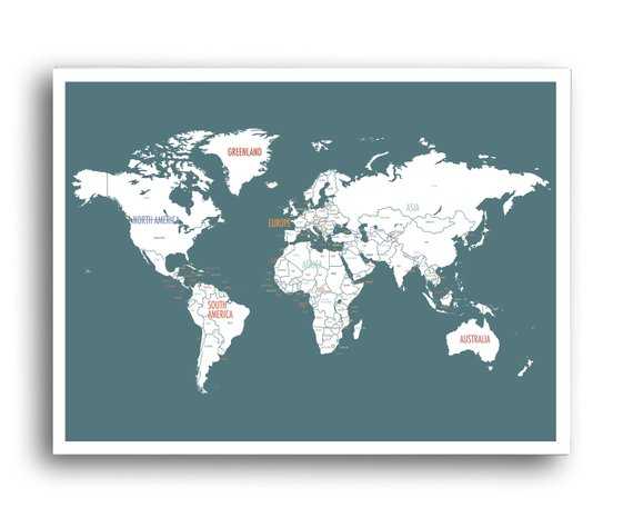 inspire global citizenship  Kid's love maps, they love to know where they are in this great big world and learn about other cultures and places. Give their curiosity a visual guide. Stick pins in where you'd love to travel, and learn about. But also where important family members and friends live. Chic maps, like these, don't need to be hidden away, but can be a part of your family's shared space.  Wayfair
