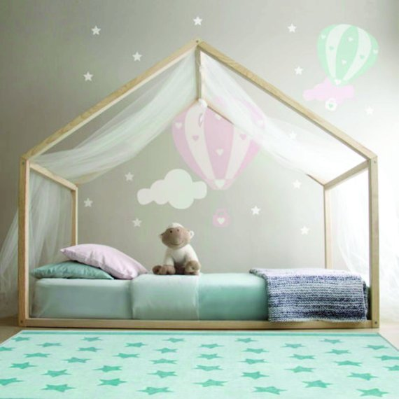 This whimsically styled  Montessori  style house bed inspires restful nights and sweet dreams,  Etsy .