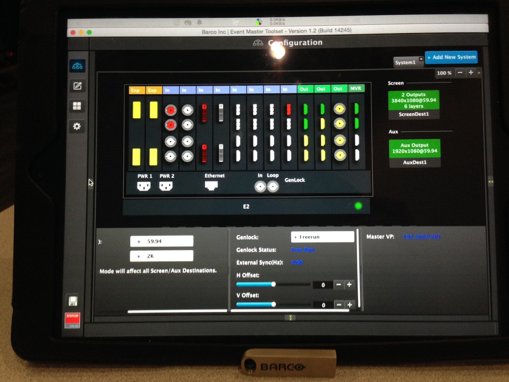 E2 - EventMaster Touch Screen control Running on an iPad!