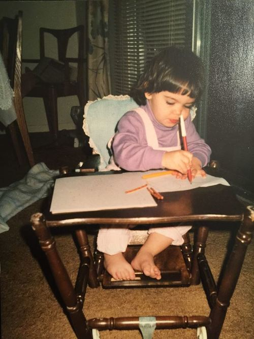 Me circa 1991, getting down to some serious business.