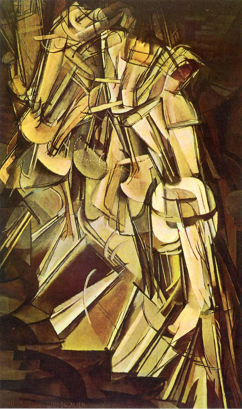 Marcel Duchamp, Nude Descending a Staircase, No.2. 1912.