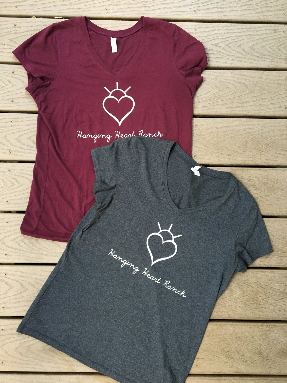 Adult V-Neck T-Shirts $25   Colors: Light Grey, Dark Grey, Light Blue, Green, Black, Brown, Maroon, Navy, Plum, Red