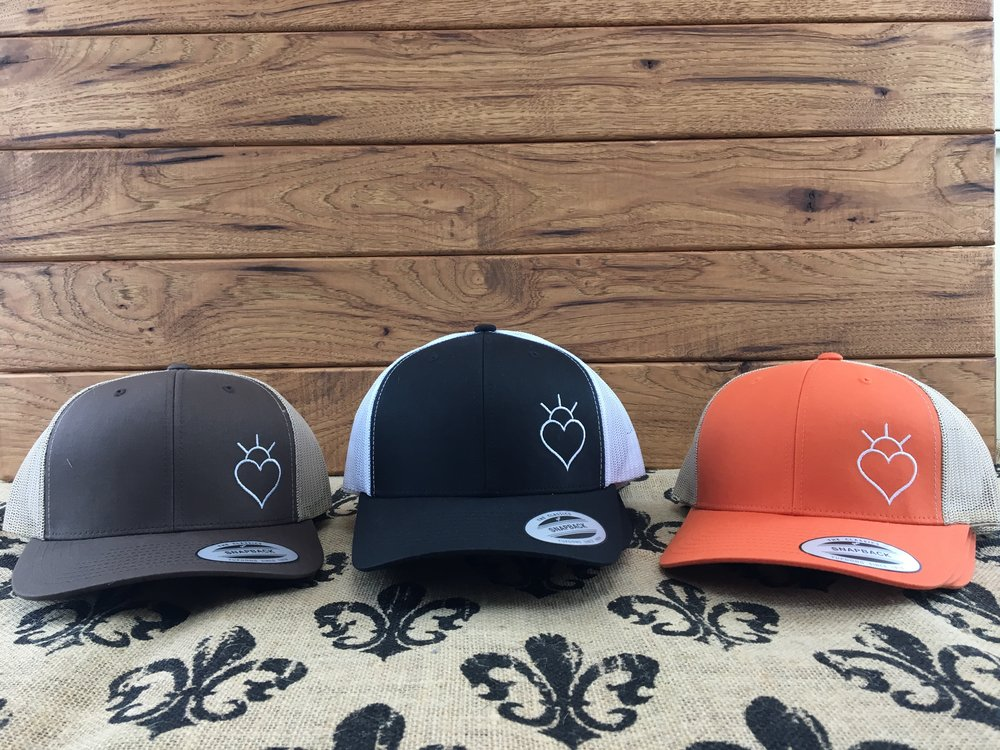 Hats $20 Colors: Brown, Orange, Black