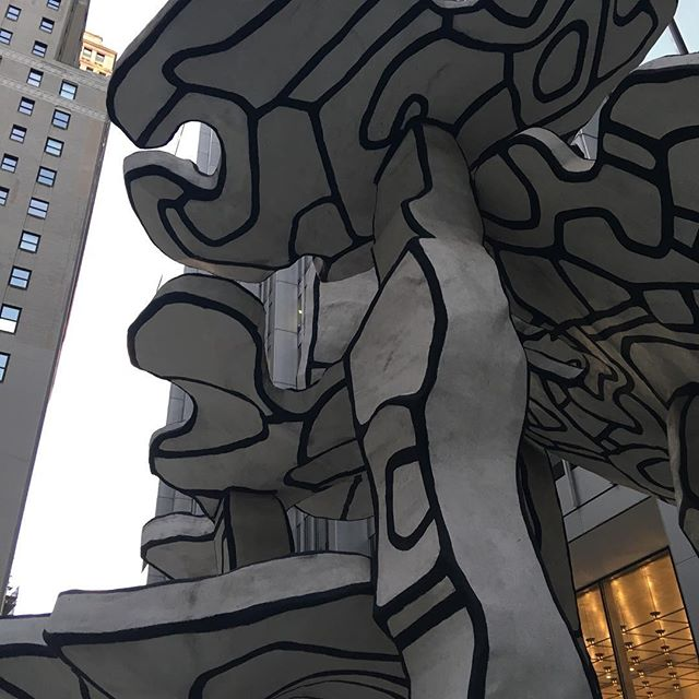 "when you look up. Jean Dubuffet. ""Group of Four Trees"" #themoreyouknow🌈"