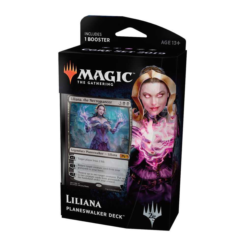 Liliana - Liliana has mastered death and bends it to her will, defying the laws of nature in pursuit of power, use her skills to raise an army of undead and drain the life from your opponent.