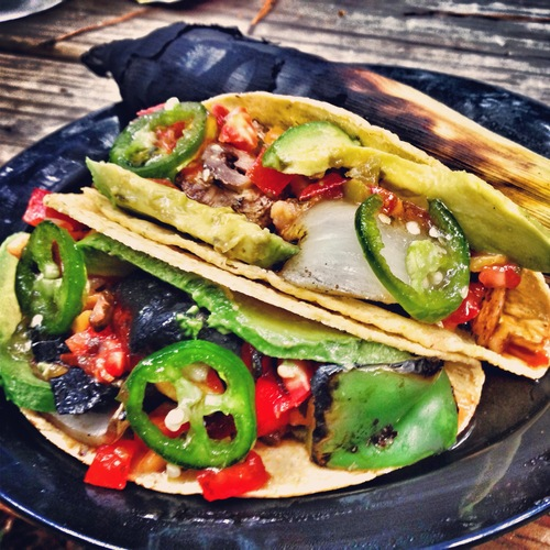 apple chicken sausage tacos
