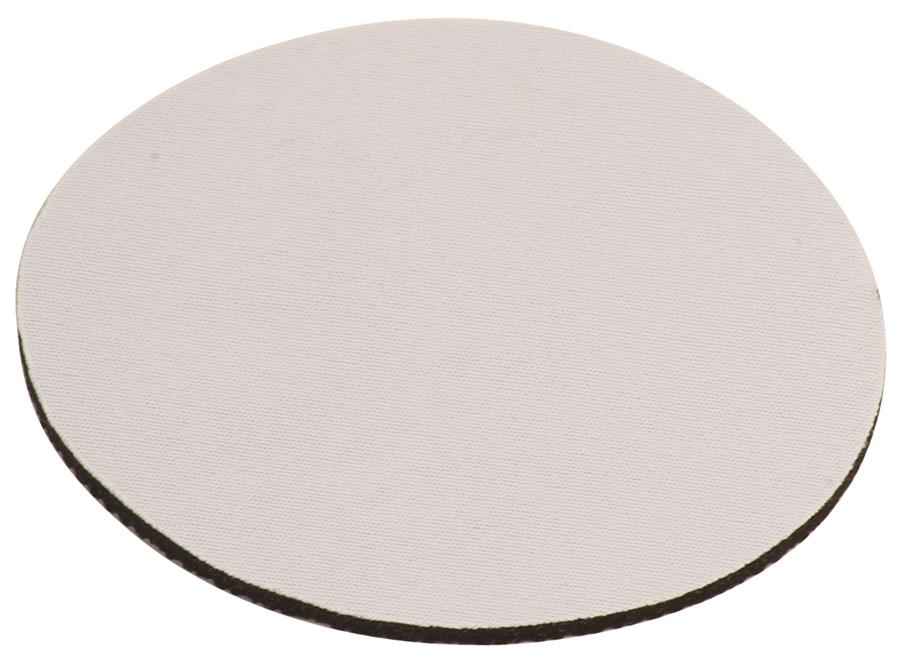 Coaster White Neoprene Round.jpg