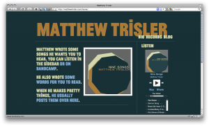 MatthewTrisler.com as it appeared in and around fall of 2010.