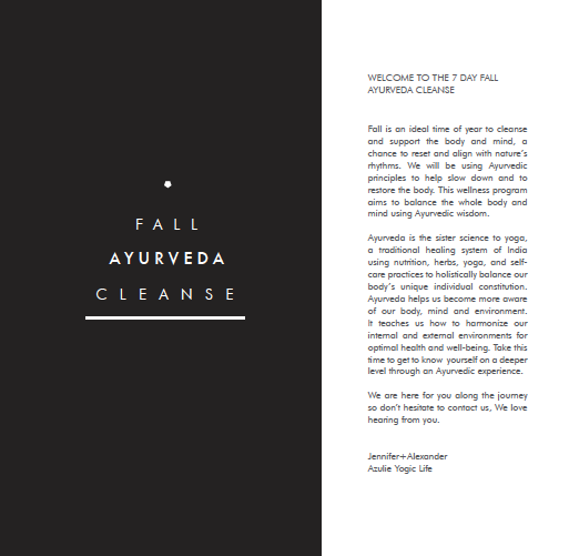 Azulie | Fall Ayurveda Cleanse