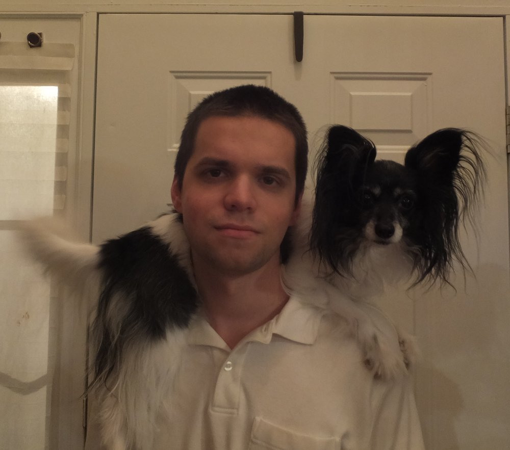 Chris and his much-loved dog, Penny