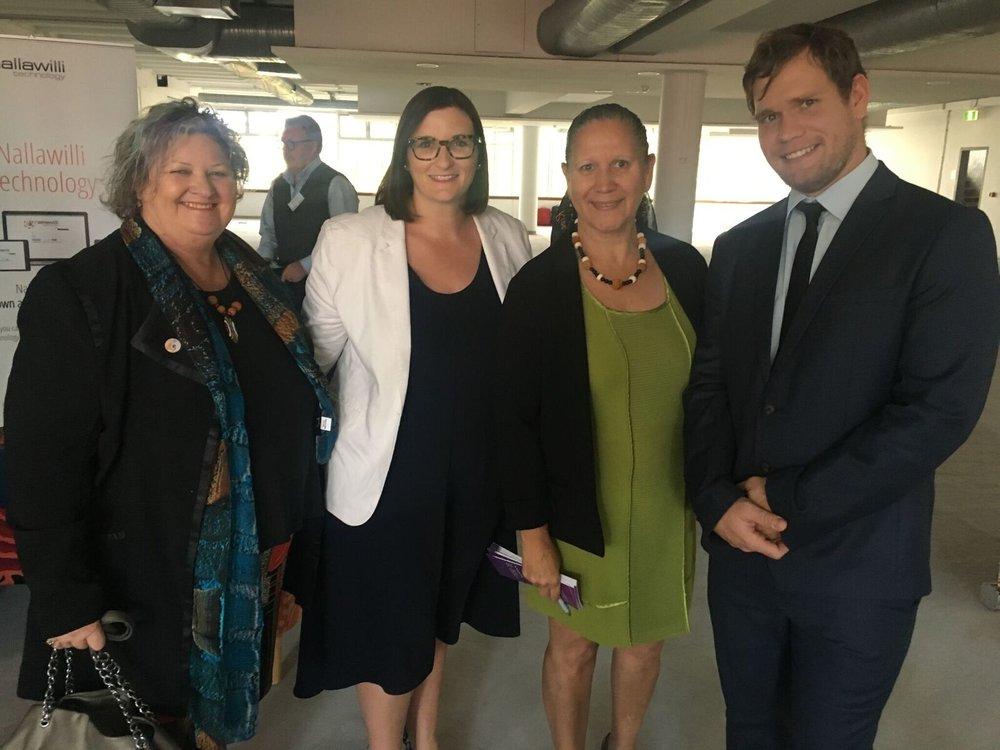 Photo: Kate Kelleher of Kate Kalleher Consulting, The Hon. Sarah Mitchell, MLC, Carol Vale, Matthew Hammond