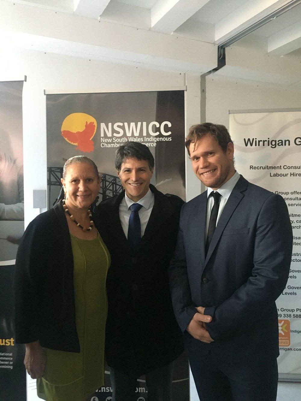 Photo: Carol Vale, The Hon. Victor Michael Dominello, MP, and Matthew Hammond
