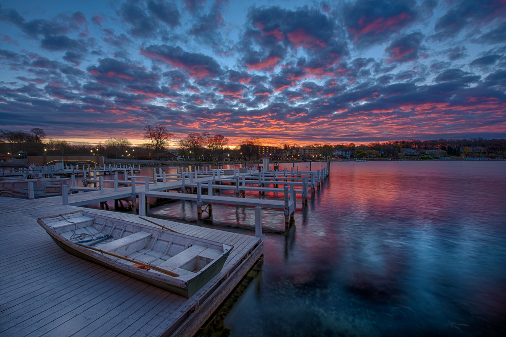 Sunrise at Lake Geneva, WI