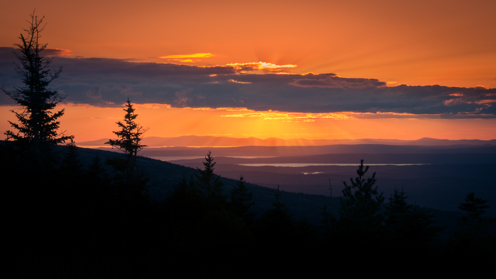 Sunset on Cadillac Mountain