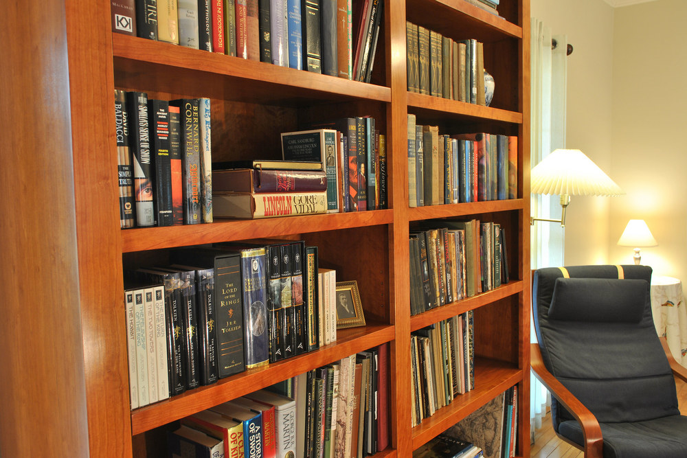 Atlanta ga custom bookcase library design atlanta custom furniture design traditional - Contemporary built in bookshelves ...