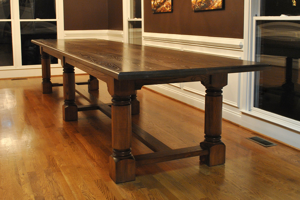 Atlanta ga custom dining table design atlanta custom for Traditional dining table for 8