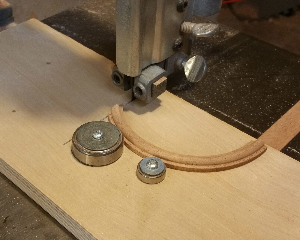 Make a trial cut of your first piece.