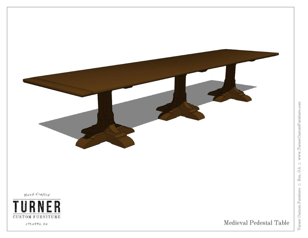 Medieval Trestle Table Design
