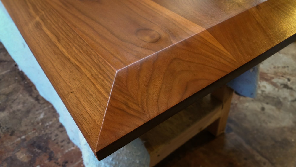 Walnut Dining Table Top Bevel jpg. Atlanta  GA Custom Table Tops   Components   Atlanta Custom