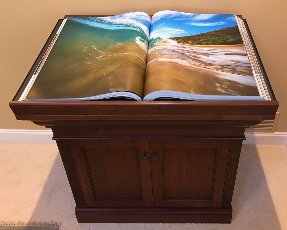 Custom Traditional Walnut Book Stand Design