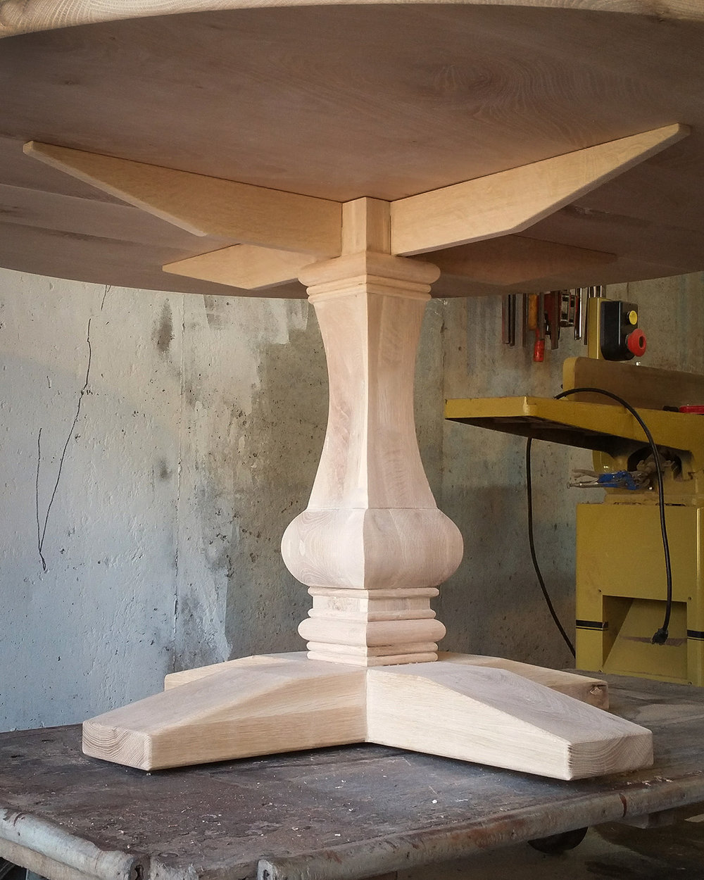 TraditionalOak-Pedestal-Table-Square-Turned-Base-2.jpg