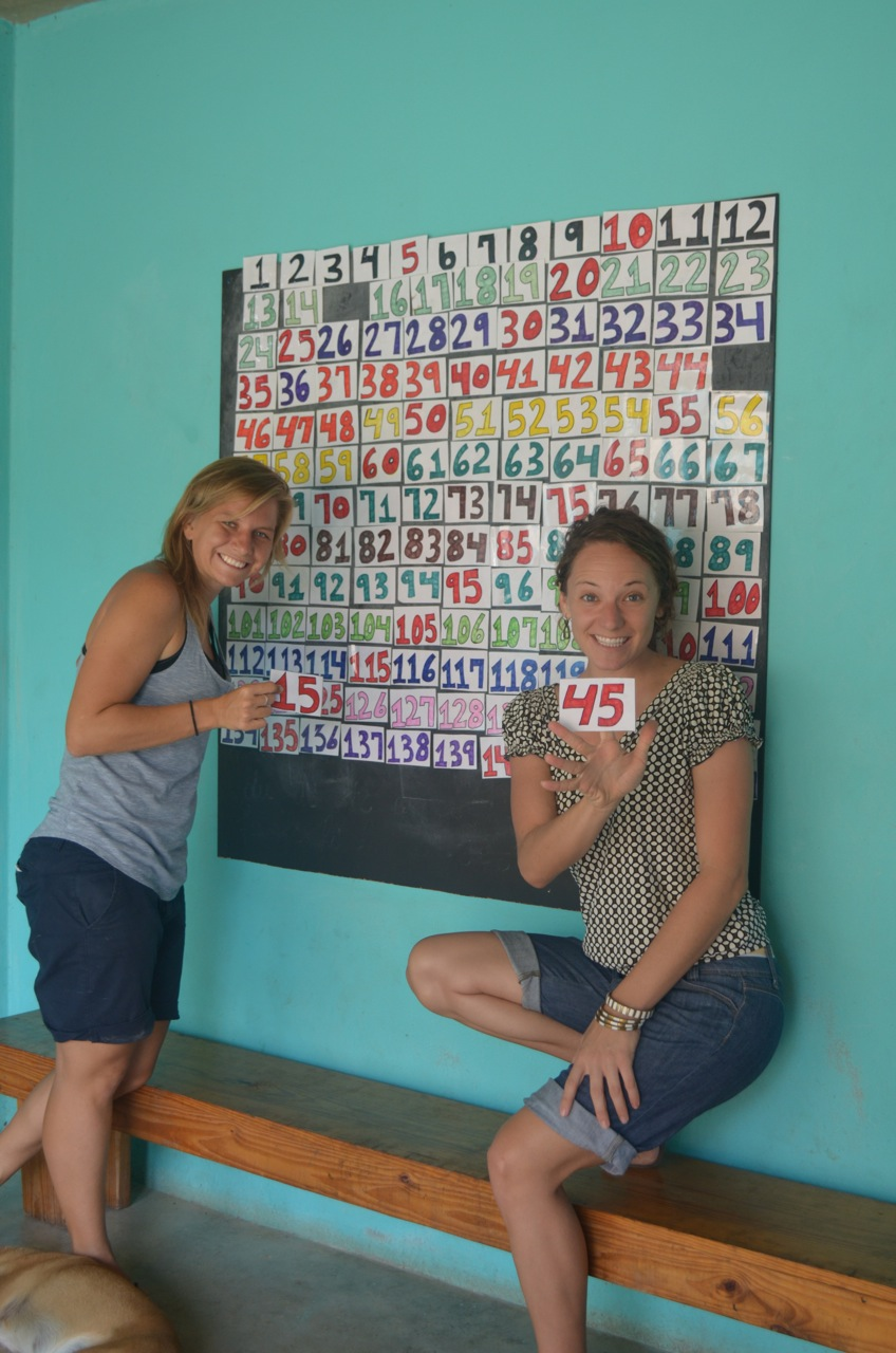 Jenn and Amy kick off the number fundraiser. Circa 2014.