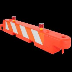 low-profile barricade & Lights
