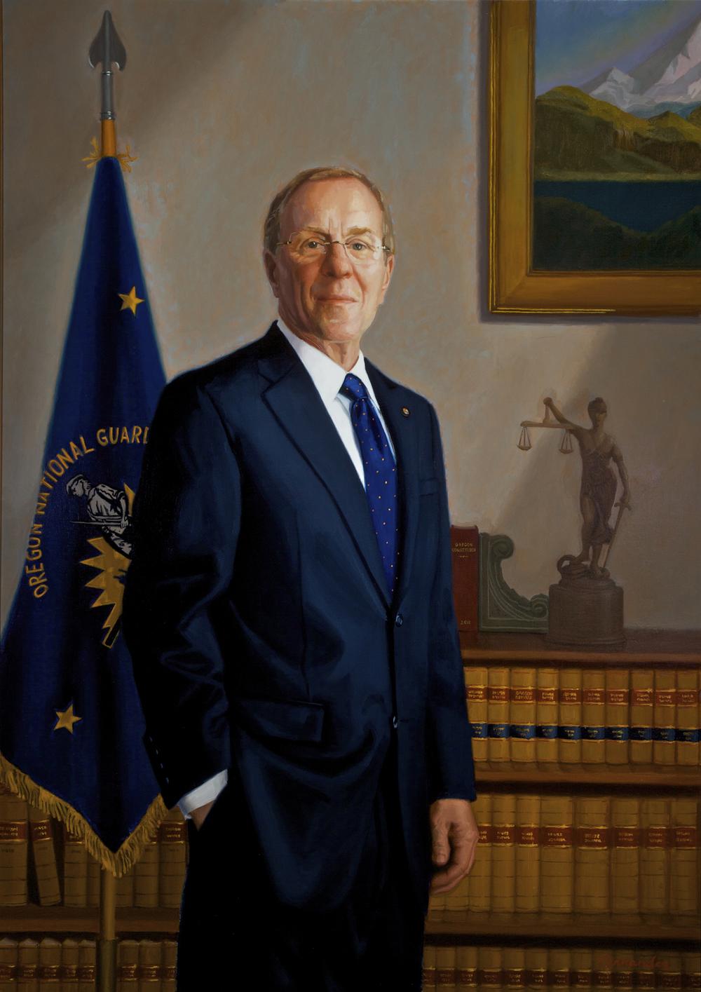 Official Portrait of Oregon Governor Ted Kulongoski