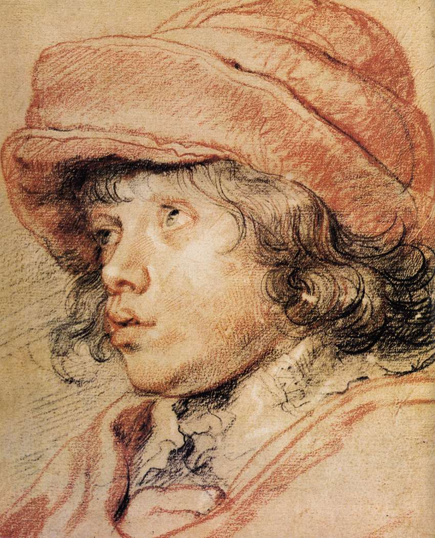 Nicholas by Peter Paul Reubens. An example of aux quatre crayon ( white, red, brown & black ).