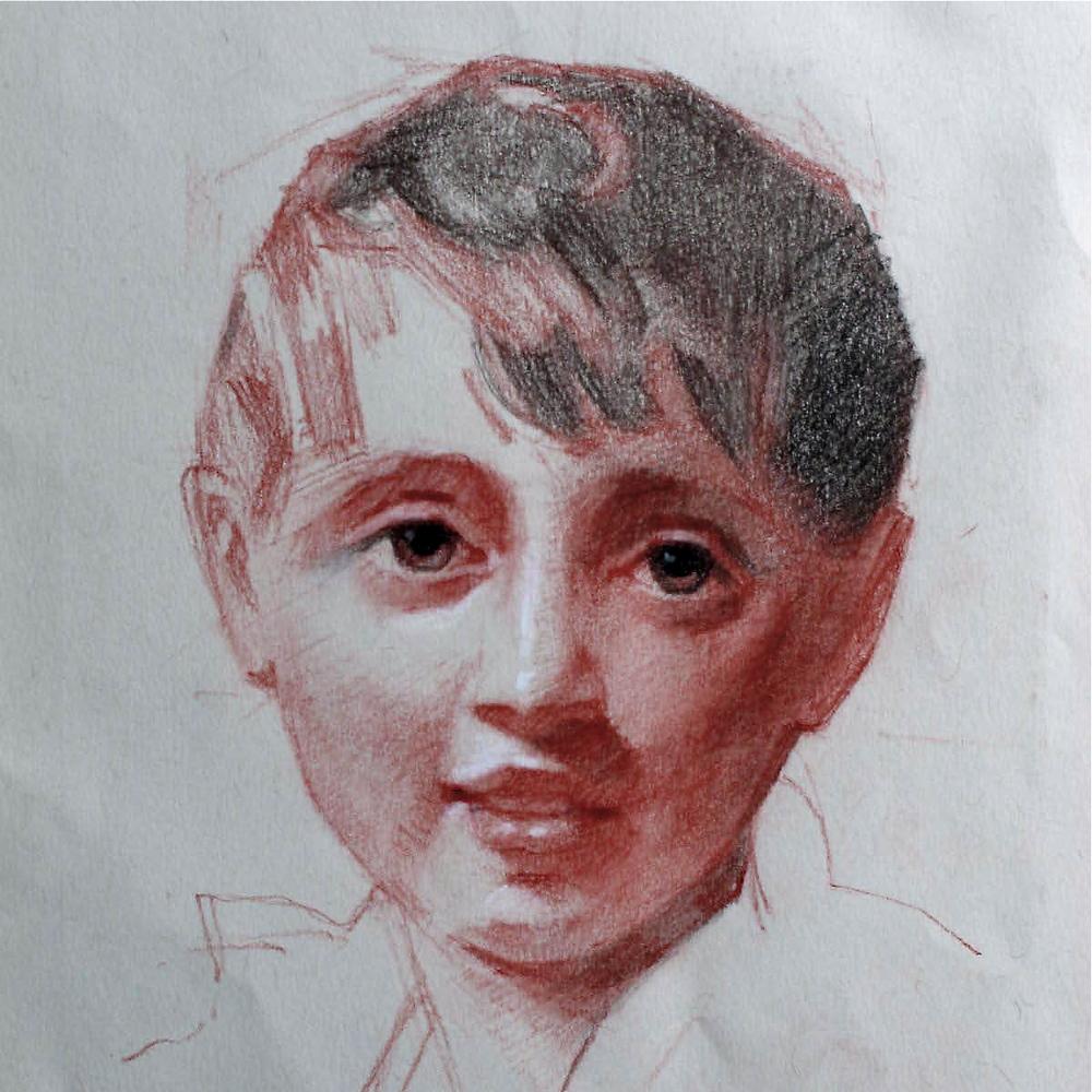 After Henry Raeburn, aux quatre crayon by Eduardo Fernandez.