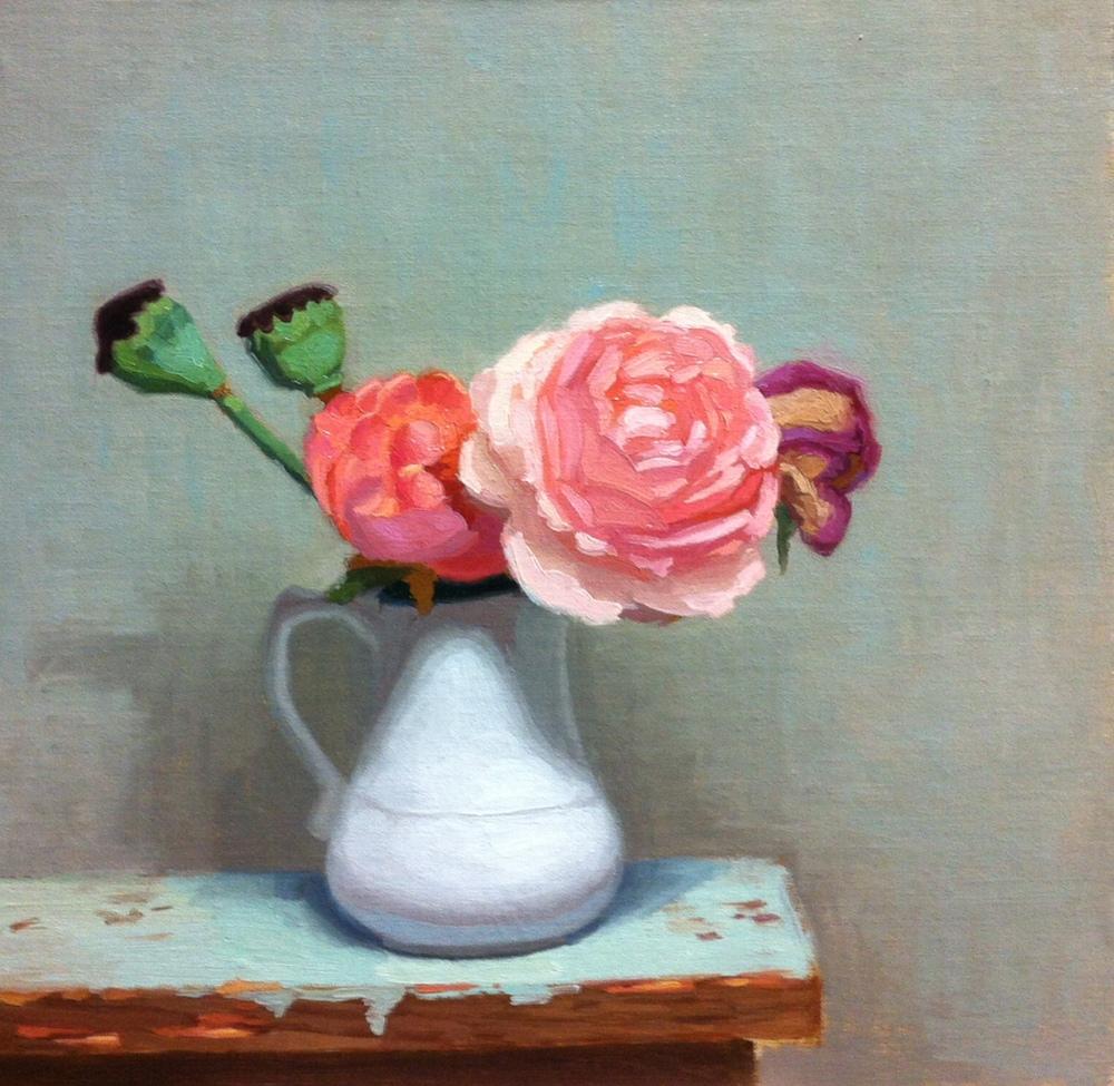 Poppy Pods & Roses