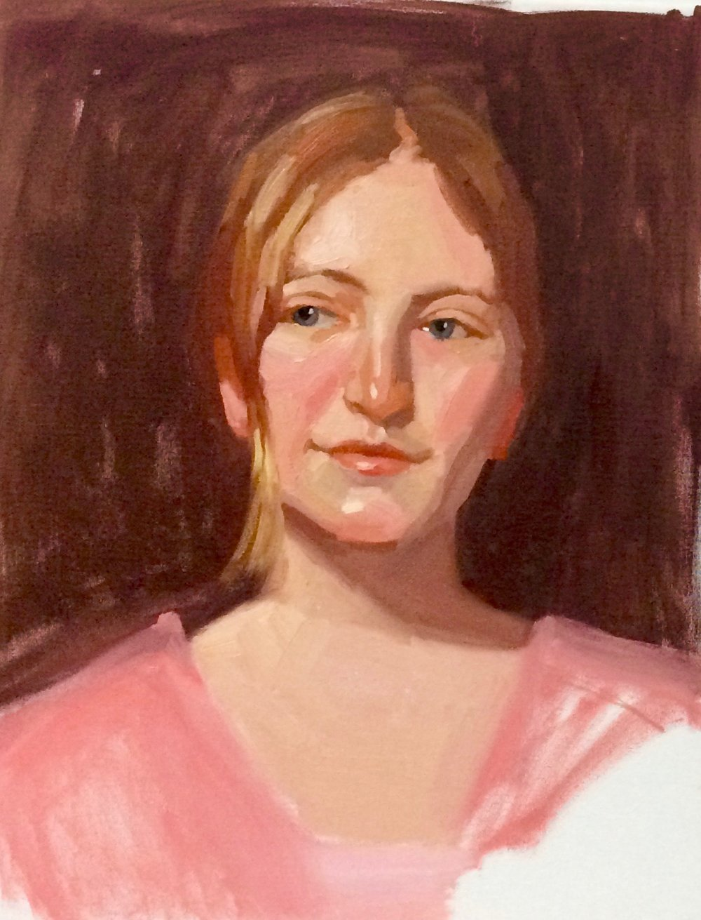 Riatta,3 hr Portrait Study, 16 x 20.