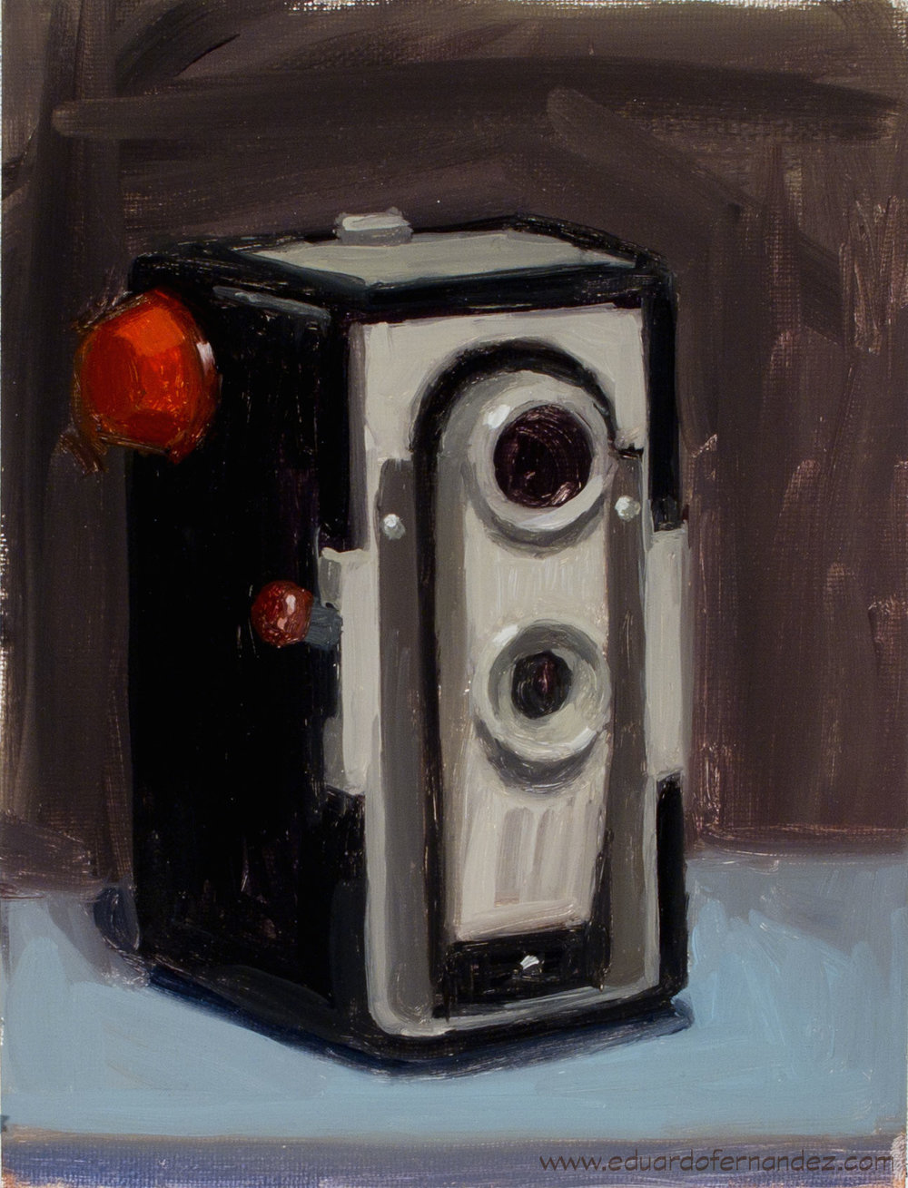 Old Cam by EF, oil, 6 x 8