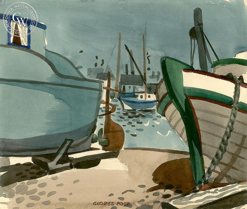Dry Dock Boats, 20 x 24