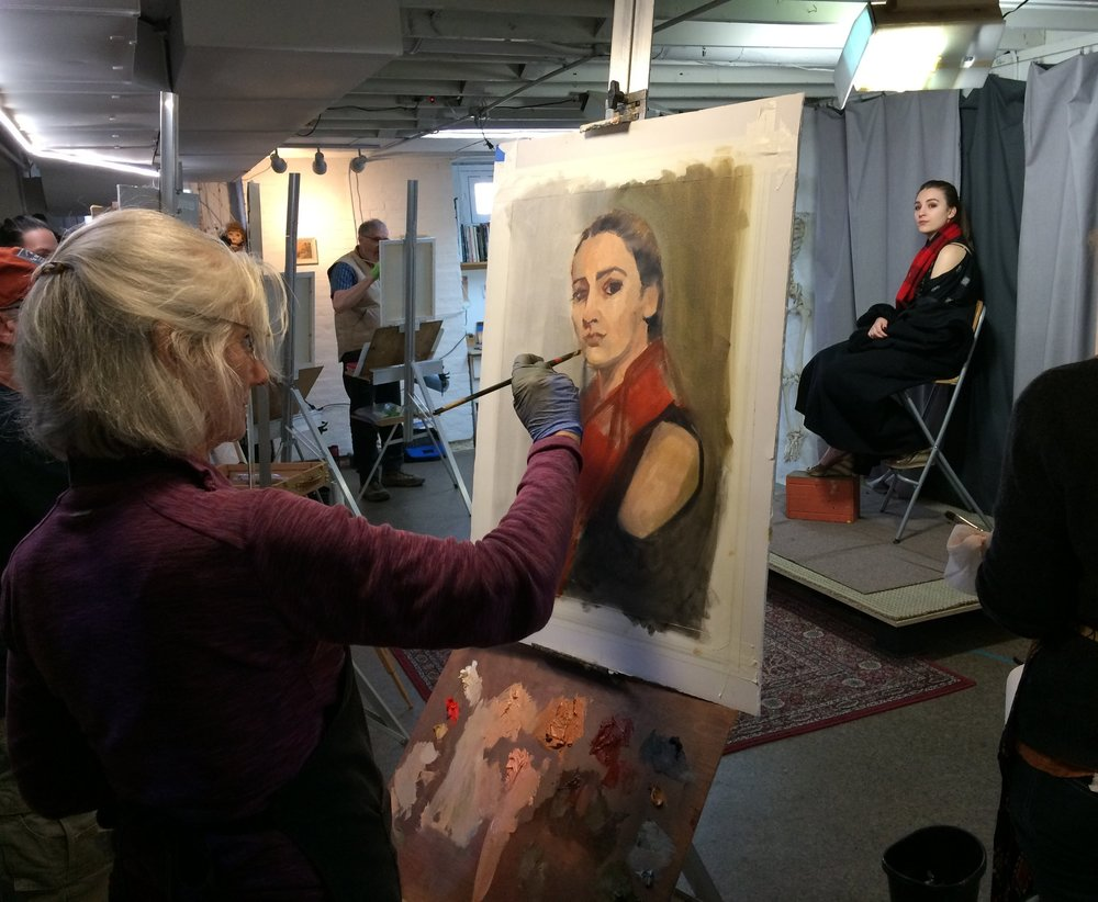 Portrait Painting! - January 19 - March 16th ( 8 wks )Saturdays: 9:30 - 1pmRegardless of style you'll benefit from using the alla prima approach and other essential concepts of portrait painting.