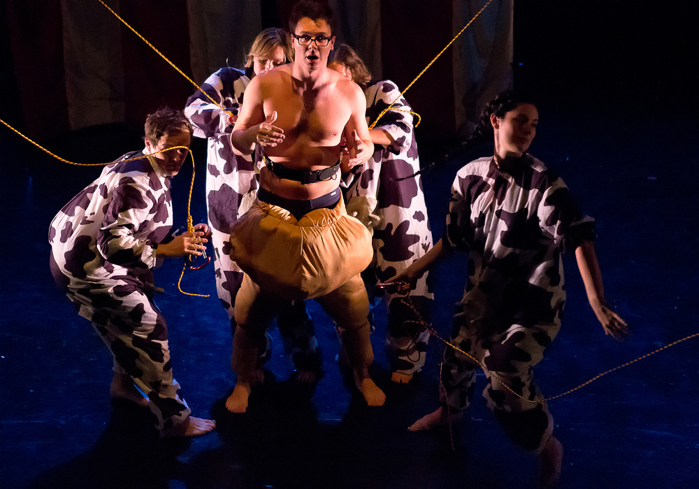 FAT FAT FATTY // By Alex Kveton //directed by Jon Kurzynowski  Lights // Theatre for a New City  Photo by Hunter Canning